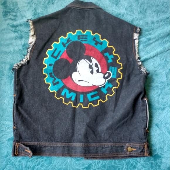 Disney Other - VINTAGE Mickey & Co Denim Vest